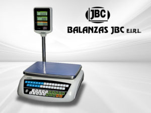 Balanza electrónica comercial de mesa Accu de 30 kg. con Torre